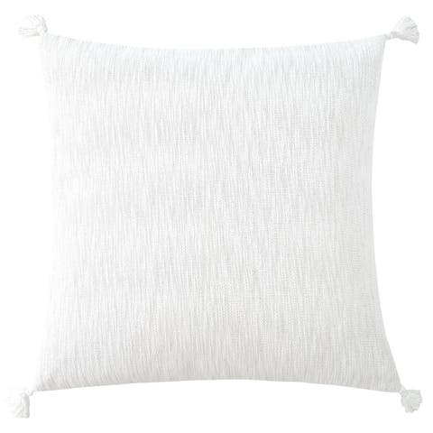 Cotton Textured Euro Sham with Tassels