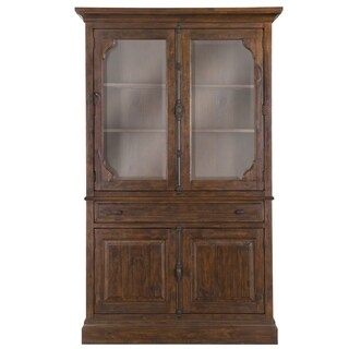 St. Claire Curio Cabinet in Rustic Pine