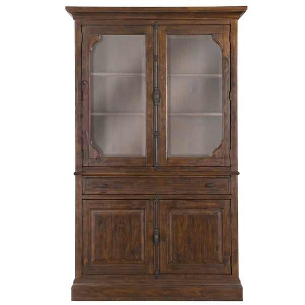 St Claire Curio Cabinet In Rustic Pine