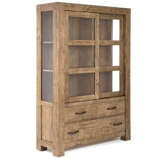Griffith China Cabinet in Rustic Weathered Toffee