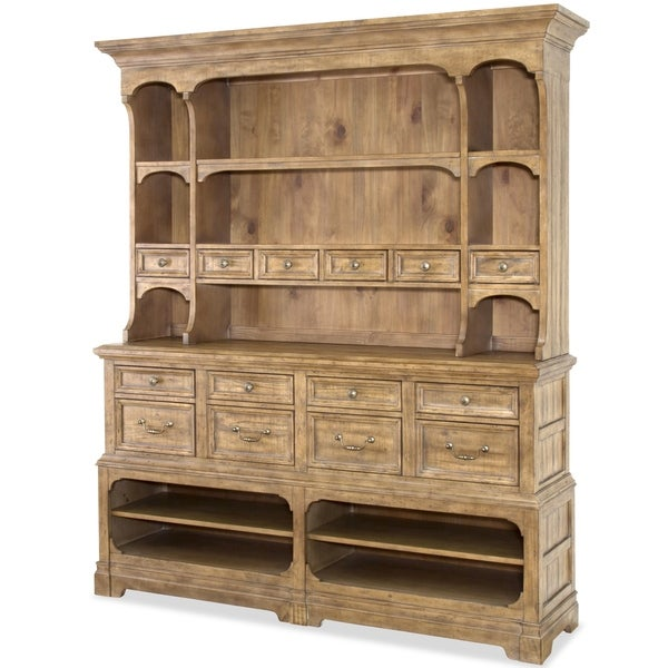 Graham Hills Sideboard With Hutch In Cracked Wheat by Magnussen Home Furnishings