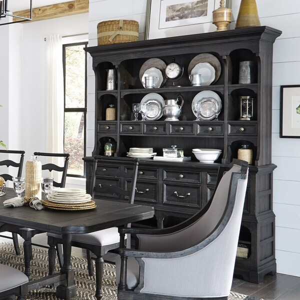 Shop Bedford Corners Sideboard with Hutch in Anvil Black On Sale Free Shipping Today
