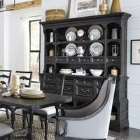 Bedford Corners Sideboard with Hutch in Anvil Black