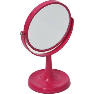 Magnifying Dual-Sided Vanity Mirror Countertop -Jewelry Organizer Pink|https://ak1.ostkcdn.com/images/products/17629739/P23844384.jpg?impolicy=medium