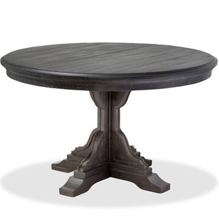 Magnussen Home Furnishings Bedford Corners Anvil Black Pine Round Dining Table