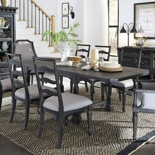 Bedford Corners Rectangular Dining Table in Anvil Black