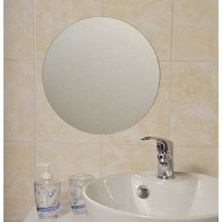 Evideco Decorative Wall Bathroom Self Adhesive Round Mirror 13.8-Inch|https://ak1.ostkcdn.com/images/products/17630010/P23844664.jpg?impolicy=medium