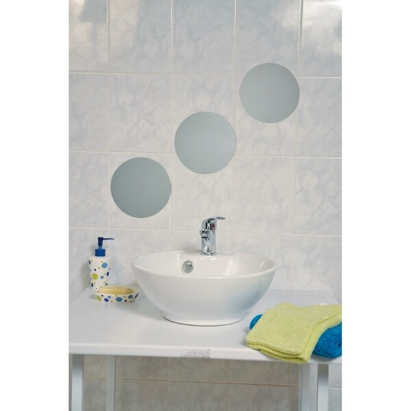 Bathroom Mirror Adhesive evideco decorative wall bathroom self adhesive mirrors (set of 3