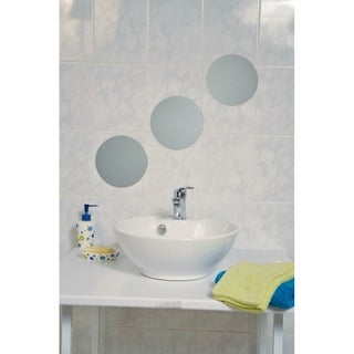 Evideco Decorative Wall Bathroom Self Adhesive Mirrors (Set of 3)