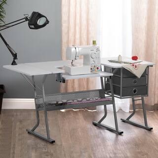 Shop Harper Blvd White Folding Sewing Machine Table On