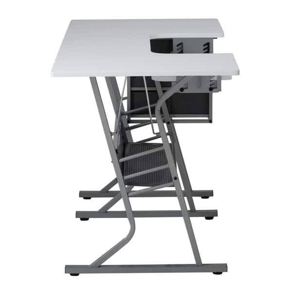 Grey//White Studio Designs Eclipse Ultra Sewing Machine Craft Table Cabinet