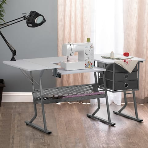 Studio Designs Eclipse Ultra Sewing Table - Grey / White