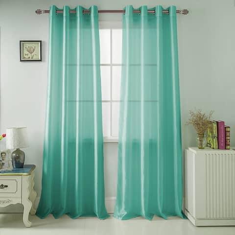 Nancy Faux Silk 84-inch Grommet Curtain Panel - 54 x 84 - 54 x 84