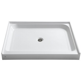 Reach 36 x 48 in. Double Threshold Shower Base in White