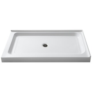 Port 36 x 48 in. Double Threshold Shower Base in White