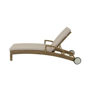 Studio 350 Aluminum PE Wicker Lounger 80 inches wide, 39 inches high