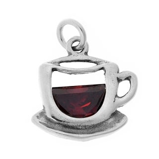 Sterling Silver Cup of Tea Charm