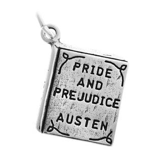 Sterling Silver Pride and Prejudice Book Charm