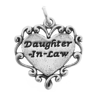 Sterling Silver Daughter-in-Law Heart Charm