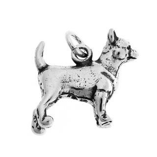 Sterling Silver Chihuahua Charm
