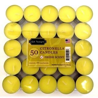 Citronella Tealights, 50 Pack