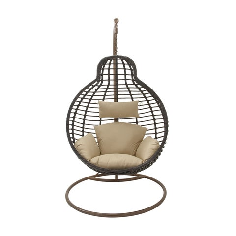 Studio 350 Metal PE Rattan Pod Chair 42 inches wide, 76 inches high