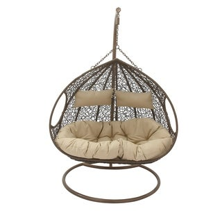 Studio 350 Metal PE Rattan Double Pod 54 inches wide, 78 inches high