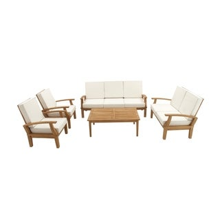 Studio 350 Teak Sofa Set of 5 77 inches, 54 inches, 30 inches wide (AB)