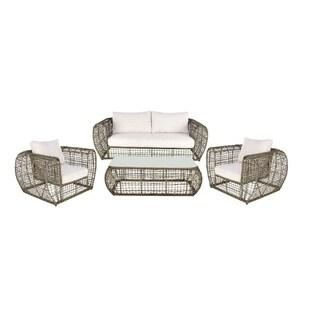 Studio 350 Aluminum PE Outdor Sofa Set of 4, 83 inches wide, 39 inches high