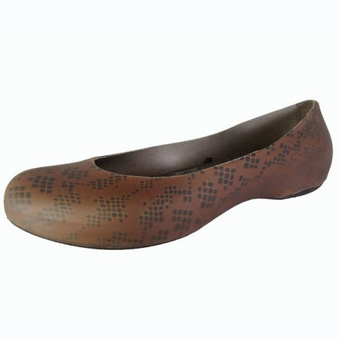 Crocs Womens Thermalucent Snake Print Flat Shoes
