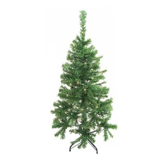 ALEKO Christmas 4' Holiday Indoor Tree Indoor with Multicolored Lights