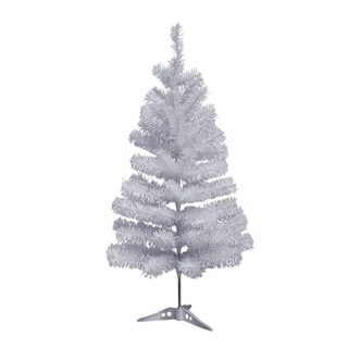 ALEKO Indoor Snow Washed 5' Artificial Holiday Christmas White Tree