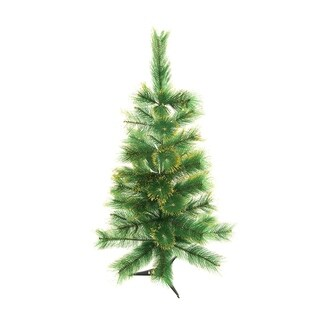 ALEKO Luscious 3' Artificial Christmas Holiday Tree with Golden Tips