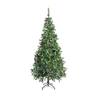 ALEKO Christmas Holiday Tree  5' with White Tips and Pine Cones