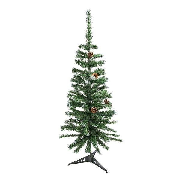 Artificial Christmas Tree With Pine Cones: Shop ALEKO Artificial Christmas Holiday Pine Tree 4' With