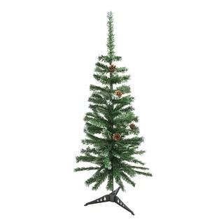 ALEKO Artificial Christmas Holiday Pine Tree 4' with Pine Cones