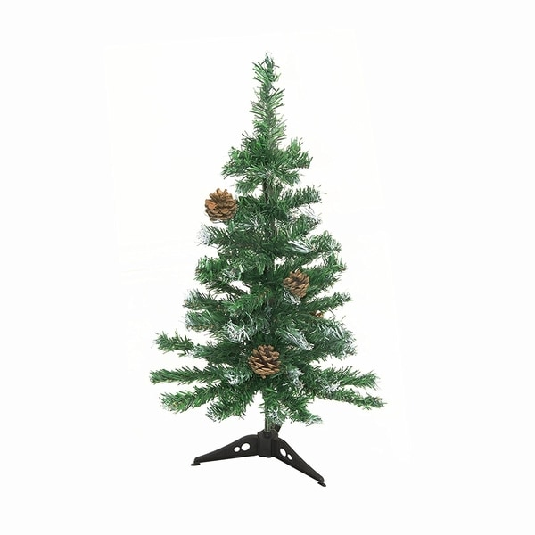 Artificial Christmas Tree With Pine Cones: Shop ALEKO Artificial Christmas Holiday Tree 2' With