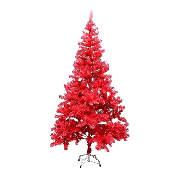Pink Artificial Christmas Trees: Shop ALEKO 6-Foot Tall Artificial Christmas Holiday Coral