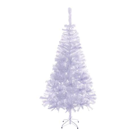 ALEKO White Artificial Indoor 6 Feet Christmas Holiday Pine Tree