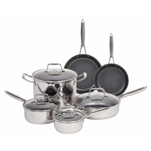 MAKER 10-piece Stainless Steel Cookware Set