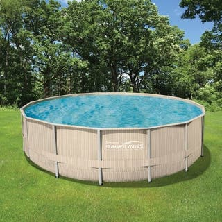 Light Wicker 15-ft Round Metal Frame Pool Package - 48-in Deep|https://ak1.ostkcdn.com/images/products/17630460/P23845056.jpg?impolicy=medium