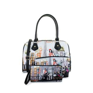 LANY Euro Trip 3-Piece Satchel Handbag Set|https://ak1.ostkcdn.com/images/products/17630527/P23845081.jpg?impolicy=medium
