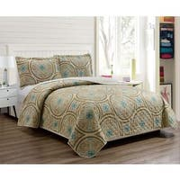 RT Designers Collection Bailey Printed 3-Piece Reversible Quilt Set
