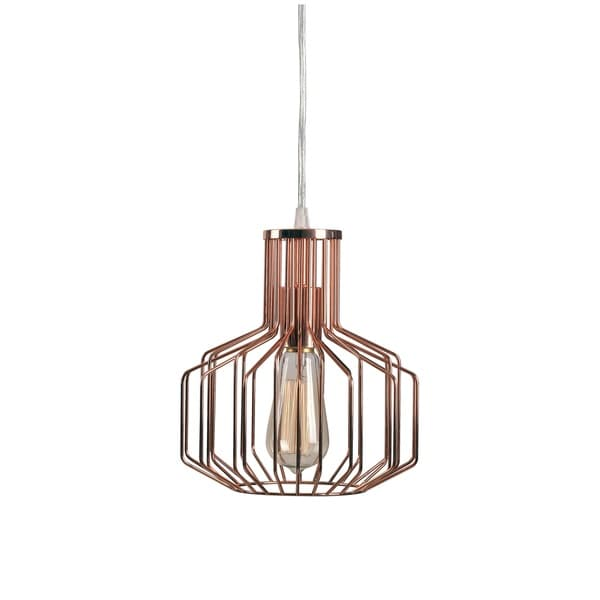 Design Craft Juniper 1 Light Copper Swag Pendant