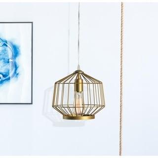 Link to Jaxton 1 Light Gold Swag Pendant Similar Items in Pendant Lights