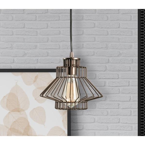 Design Craft Ezra 1 Light Vintage Copper Swag Pendant