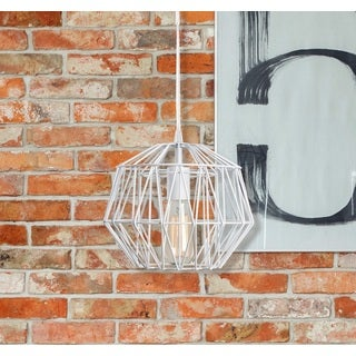 Design Craft Luna 1 Light Weathered White Swag Pendant
