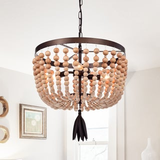 Jossip 3-Light 17-Inch Wood Metal Pendant