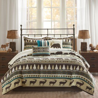 Madison Park Butte Teal 7-piece Printed Herringbone Comforter Set
