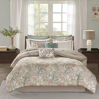 Madison Park Robin Spice 10 Pieces Cotton Sateen Printed Comforter Set